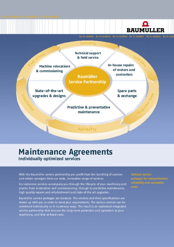Maintenance Agreements (Us) - Baumueller-Nuermont Corporation